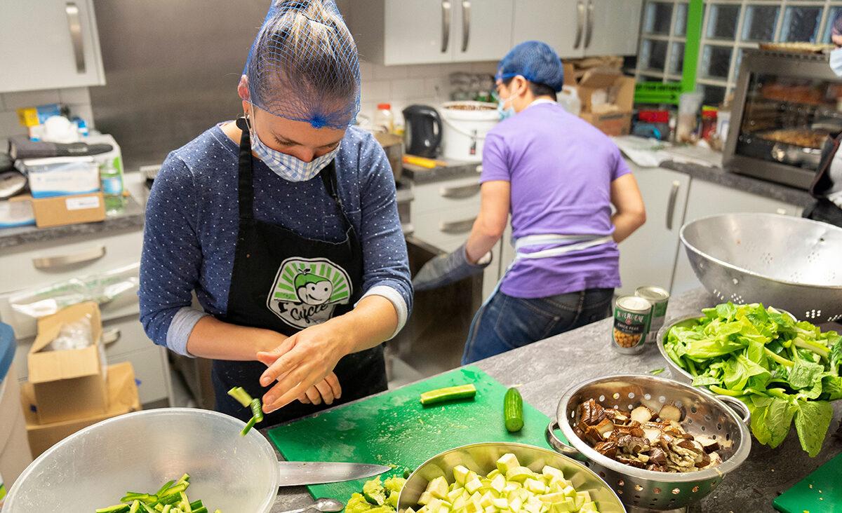 FoodCycle volunteers