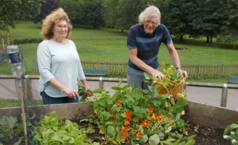 Liz and Andy from St George Community Garden